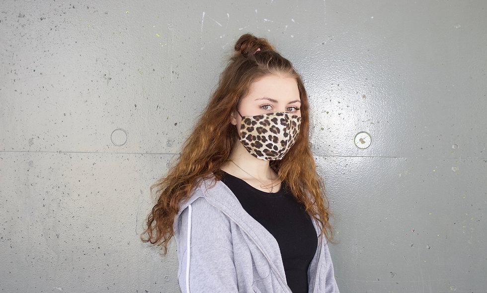 Leo Groß Baumwolle Maske- hannisch