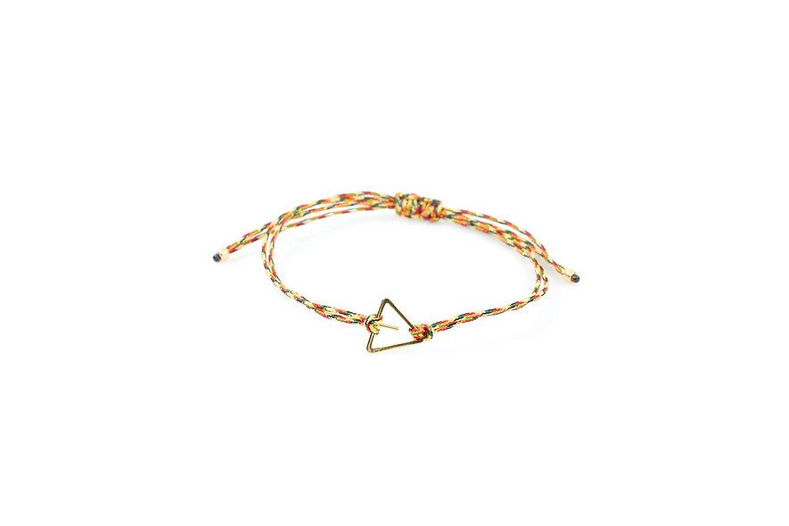 Kordel Dreieck Pin Gold Armband/Fußkette