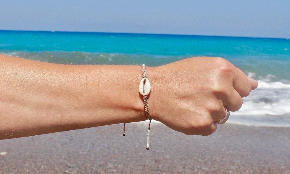 Makramee Echte Muschel Armband/Fußkette