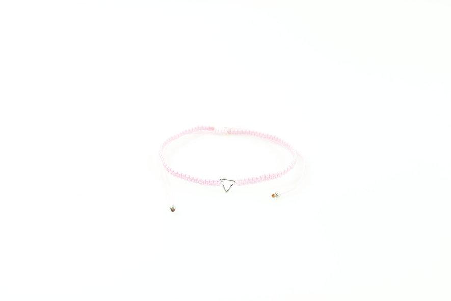 Makramee Dreieck Silber Armband/Fußkette