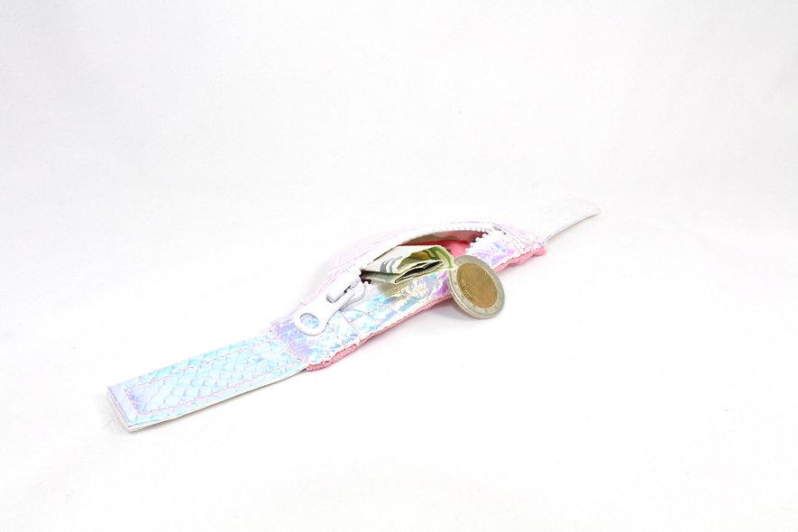 Gelenktasche  Holographisch Kroko Rosa Gelenk Tasche - hannisch