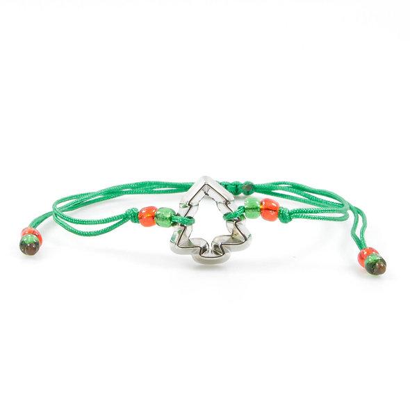 Kordel Tannenbaum Ausstecher Silber Armband/Fußkette
