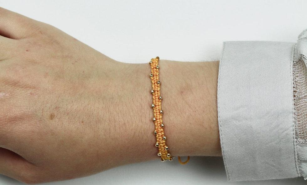 Makramee Winzige Gold Perlen  Armband/Fußkette