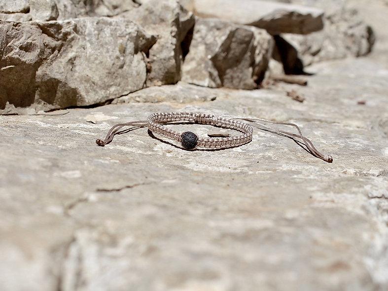 Makramee Lava Stein Armband/Fußkette