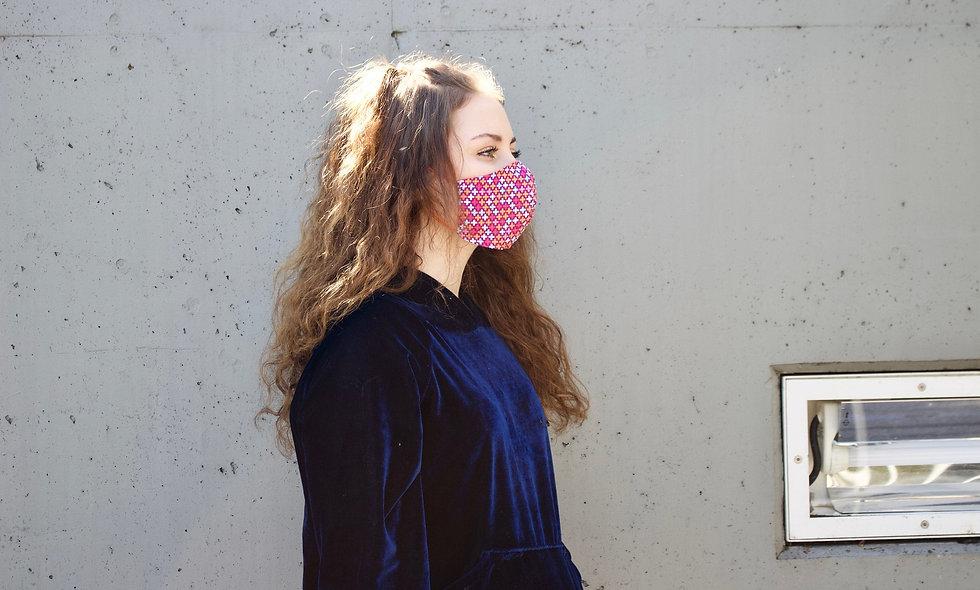 Pink Retro Plus Maske- hannisch