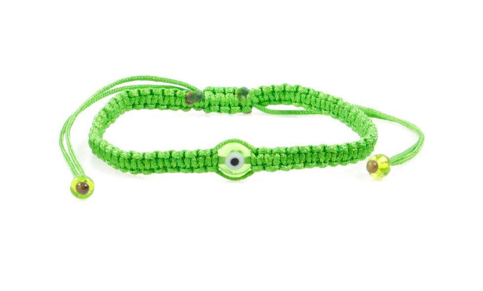 Makramee Evil Eye Hell Grün Perle Flach Armband/Fußkette