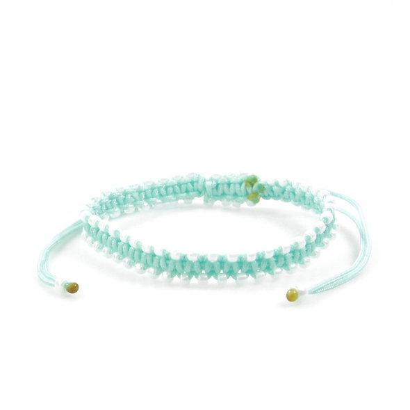 Makramee Viele Kleine Perlmutt Weiß Perlen Armband/Fußkette