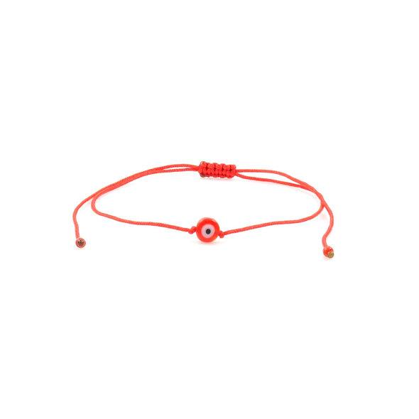 Kordel Evil Eye Rot Perlen Armband/Fußkette