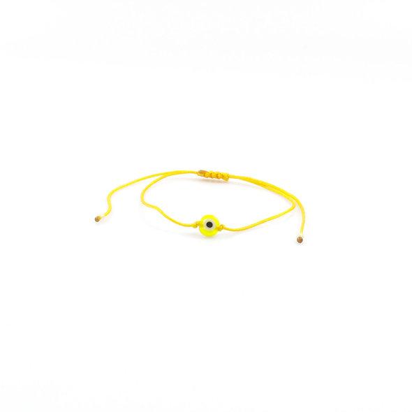 Kordel Evil Eye Gelb Perlen Armband/Fußkette