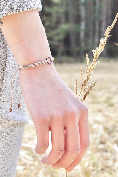 Boho Makramee Kupfer Ring Armband/Fußkette