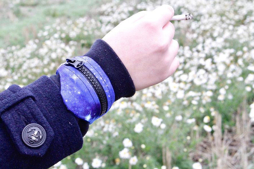 Gelenktasche  Baumwolle Bedruckt Galaxy Gelenk Tasche - hannisch