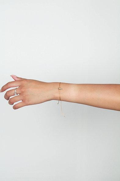 Kordel Horn Gold Glasperlen Armband/Fußkette