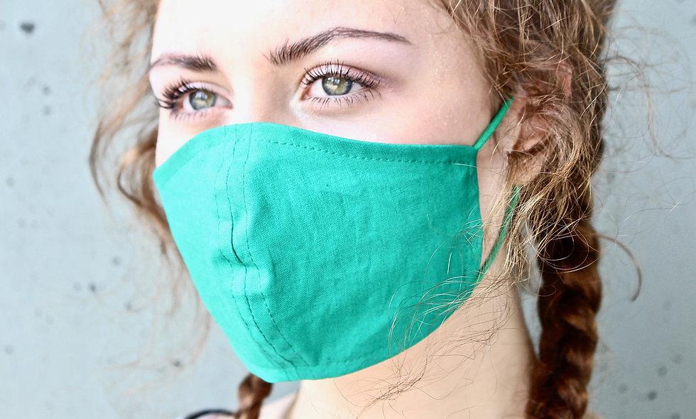 Grün Baumwolle Maske- hannisch