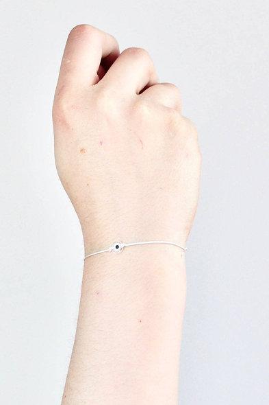 Kordel Evil Eye Transparent Perlen Armband/Fußkette