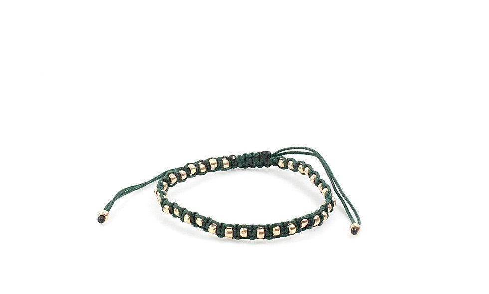 Makramee Eingefasste Rose Gold Perlen Armband/Fußkette