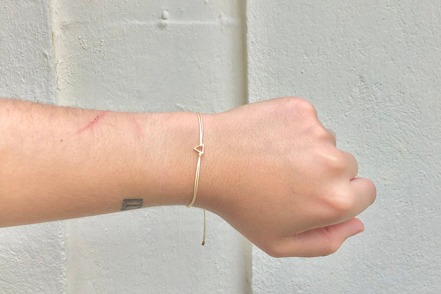 Kordel Dreieck Gold Armband/Fußkette