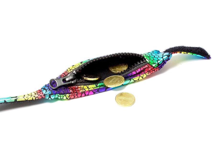 Gelenktasche  Regenbogen Kroko Gelenk Tasche - hannisch