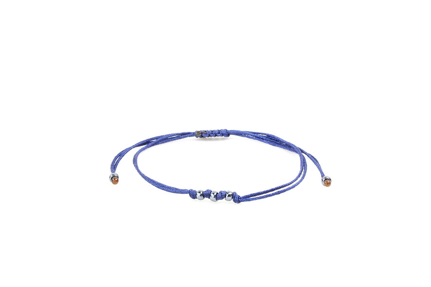 Kordel Space Gray Perlen Armband/Fußkette