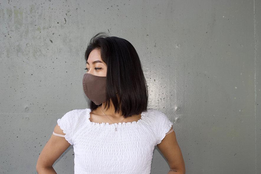 Braun Baumwolle Maske- hannisch