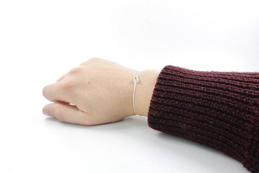 Kordel Evil Eye Transparent Rund Perle Armband/Fußkette