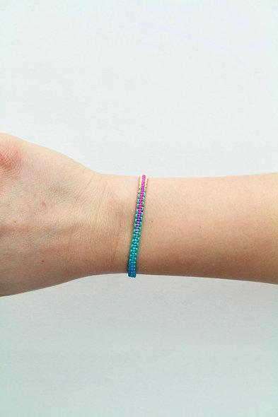 Flach Makramee  Armband/Fußkette