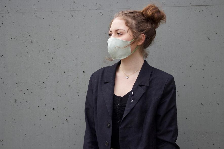 Hell Grün Baumwolle Maske- hannisch