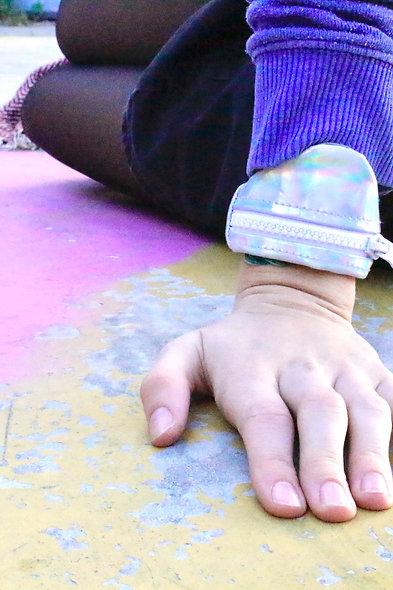 Gelenktasche  Holographisch Silber Gelenk Tasche - hannisch
