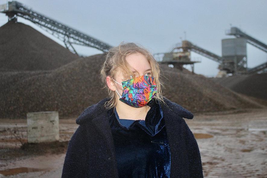 Illusion Bunt Baumwolle OP- Masken Überzieher- hannisch