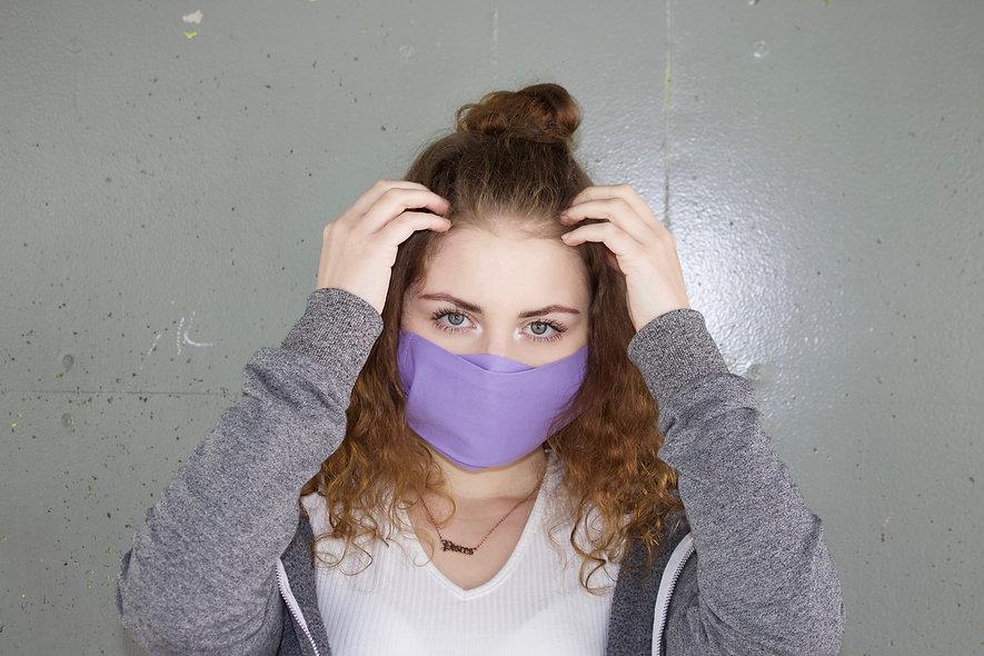 Flieder Baumwolle Flap Maske- hannisch