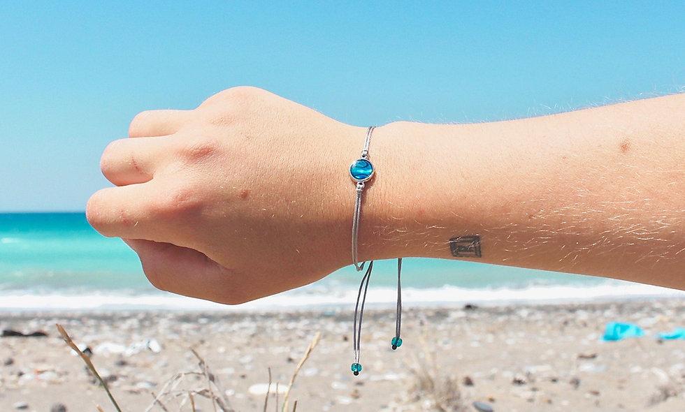"""Kordel """"Fenster zum Meer"""" Armband/Fußkette"""