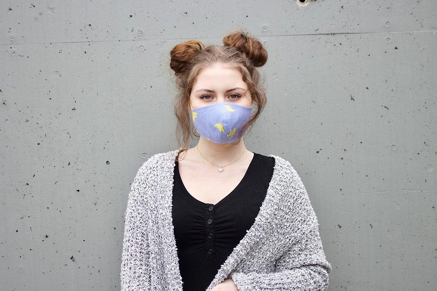 Bananen Blau Baumwolle Maske- hannisch