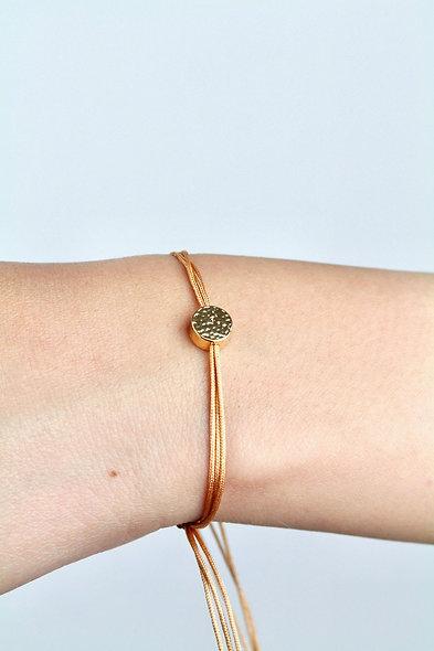 Kordel Sterling Silber Vergoldet Plättchen Armband/Fußkette