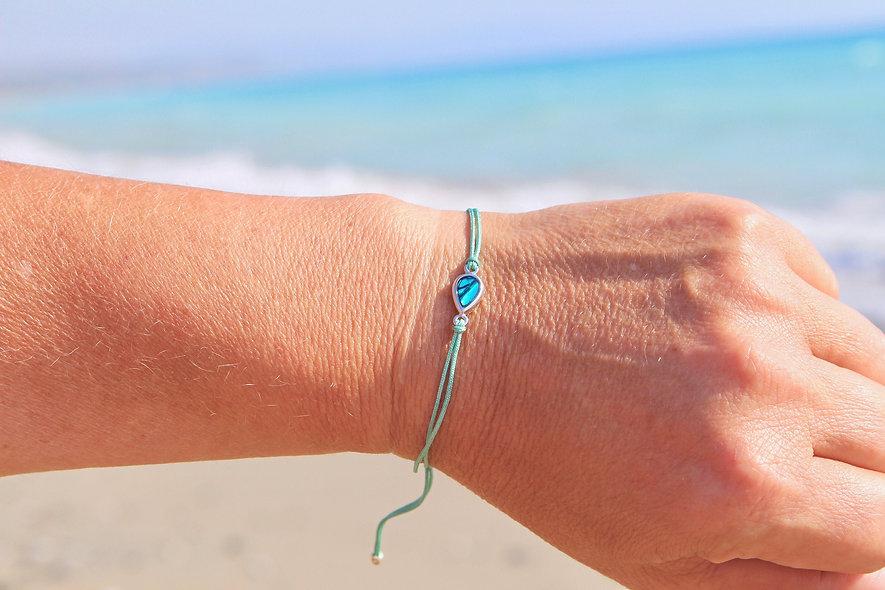 Kordel Wassertropfen Armband/Fußkette