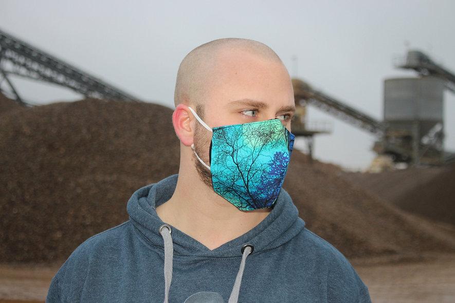 Nordlichter Wald Baumwolle FFP2 & KN95 Masken Überzieher- hannisch