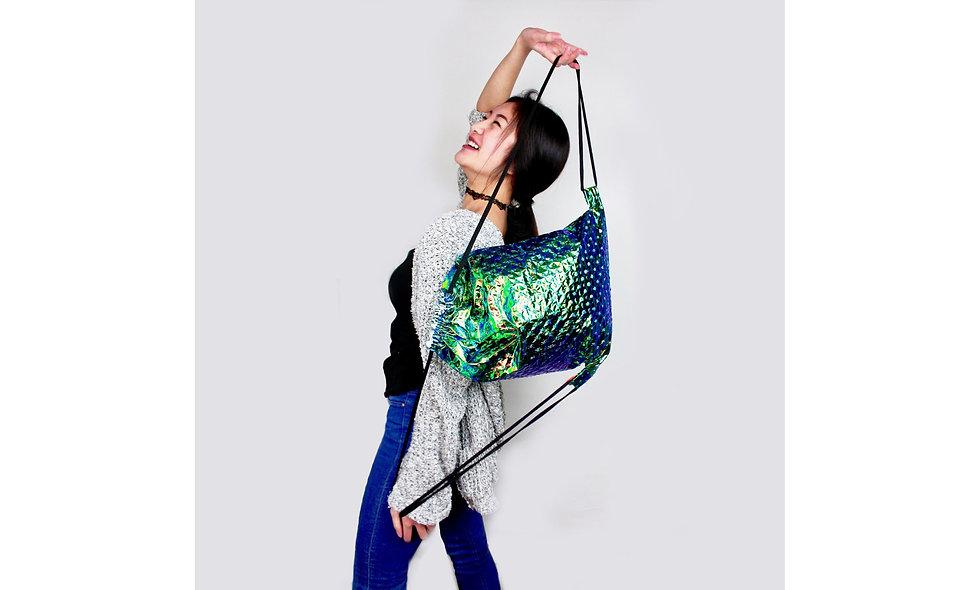 Mermaid Geprägt Türkis Gym Bag - hannisch