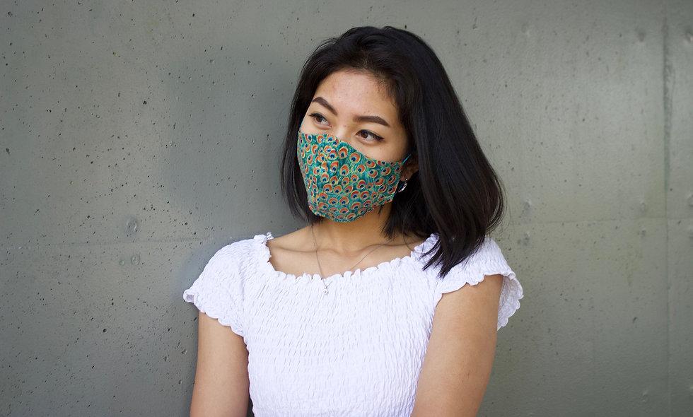 Pfau Baumwolle Maske- hannisch
