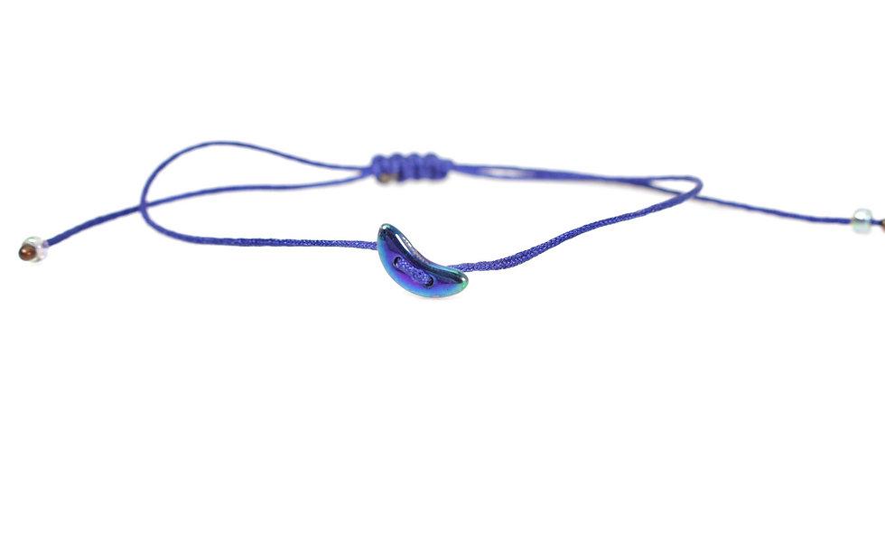 Winziger Mond Mermaid Kordel Armband/Fußkette
