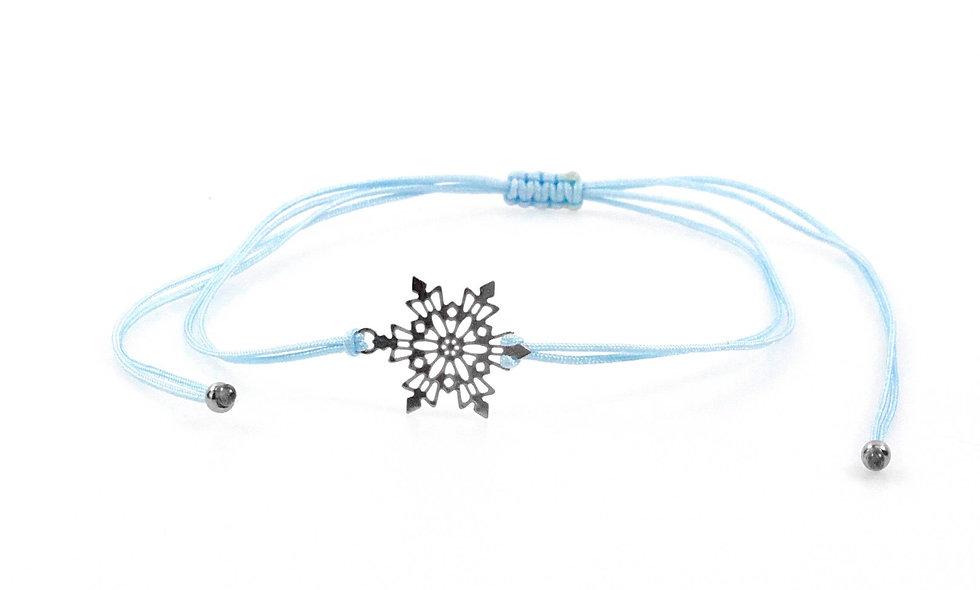 Kordel Schneeflocke Silber Armband/Fußkette