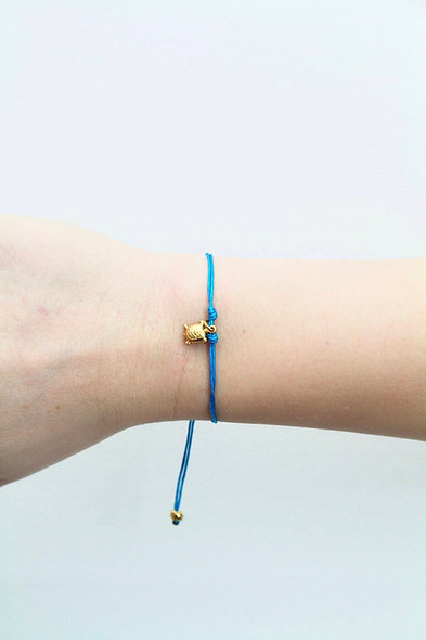 Kordel Schildkröte Gold Bead Armband/Fußkette