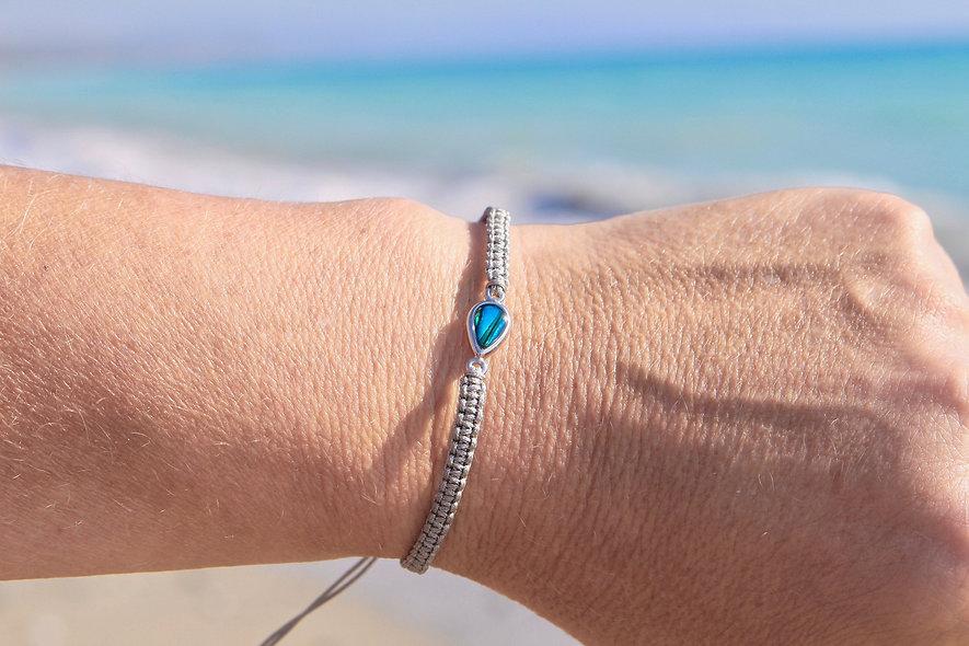 Makramee Wassertropfen Armband/Fußkette