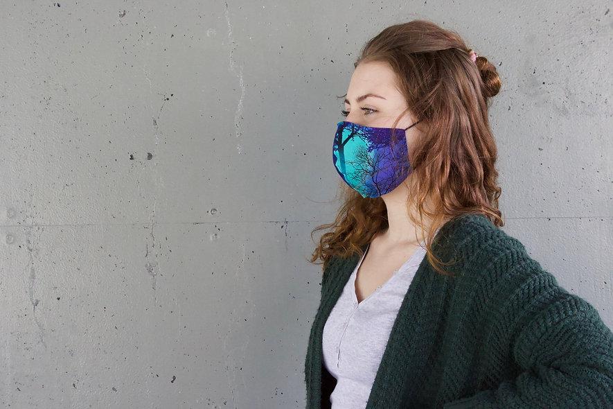 Galaxy Wald Baumwolle Maske- hannisch