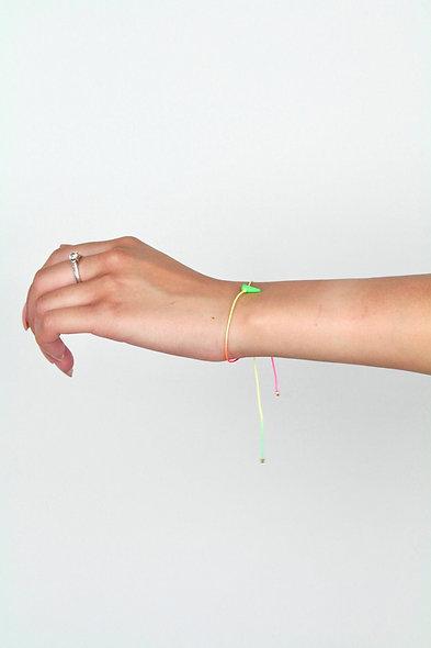 Kordel Horn Neon Grün Glasperlen Armband/Fußkette