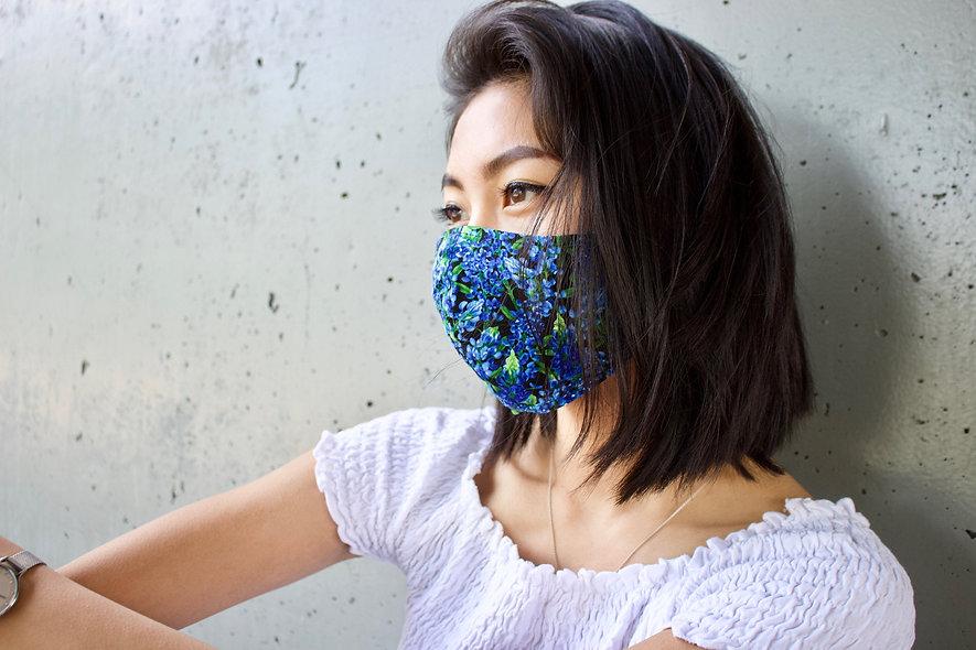 Lupinen Blau Maske- hannisch
