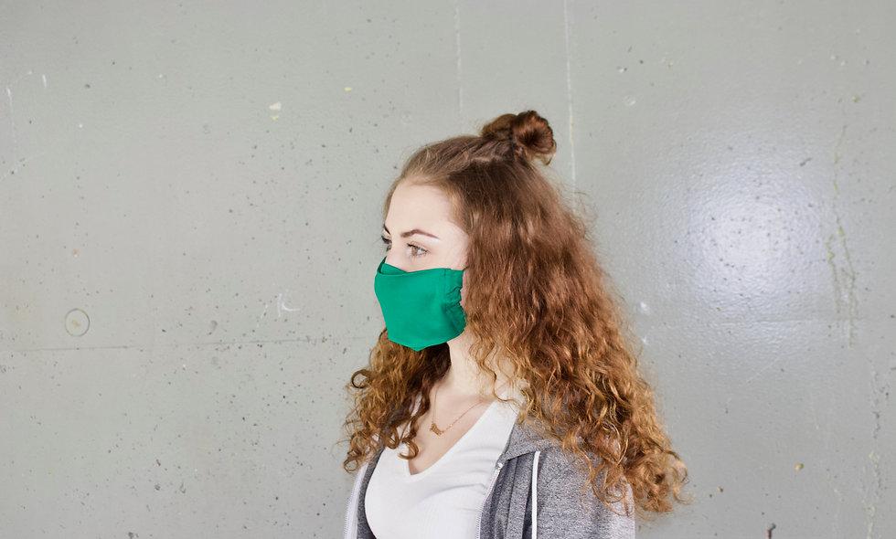 Grün Baumwolle Flap Maske- hannisch