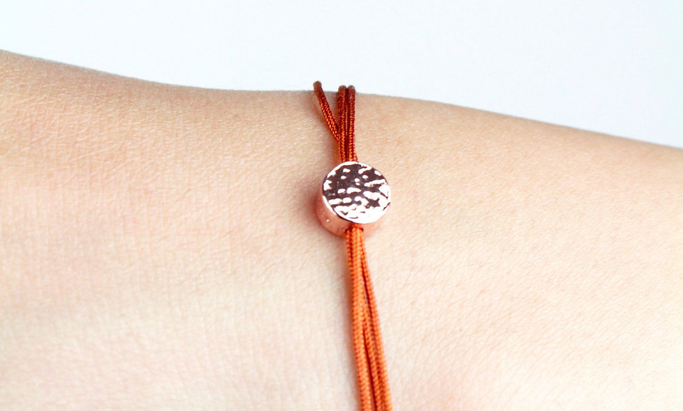 Kordel Sterling Silver Rose Vergoldet Plättchen Armband/Fußkette