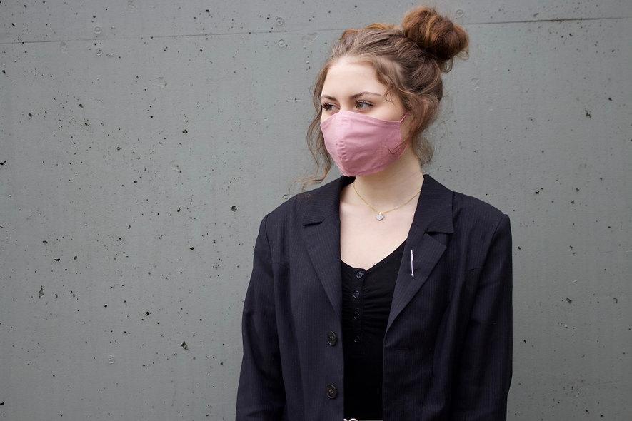 Rauch Rosa Baumwolle Maske- hannisch