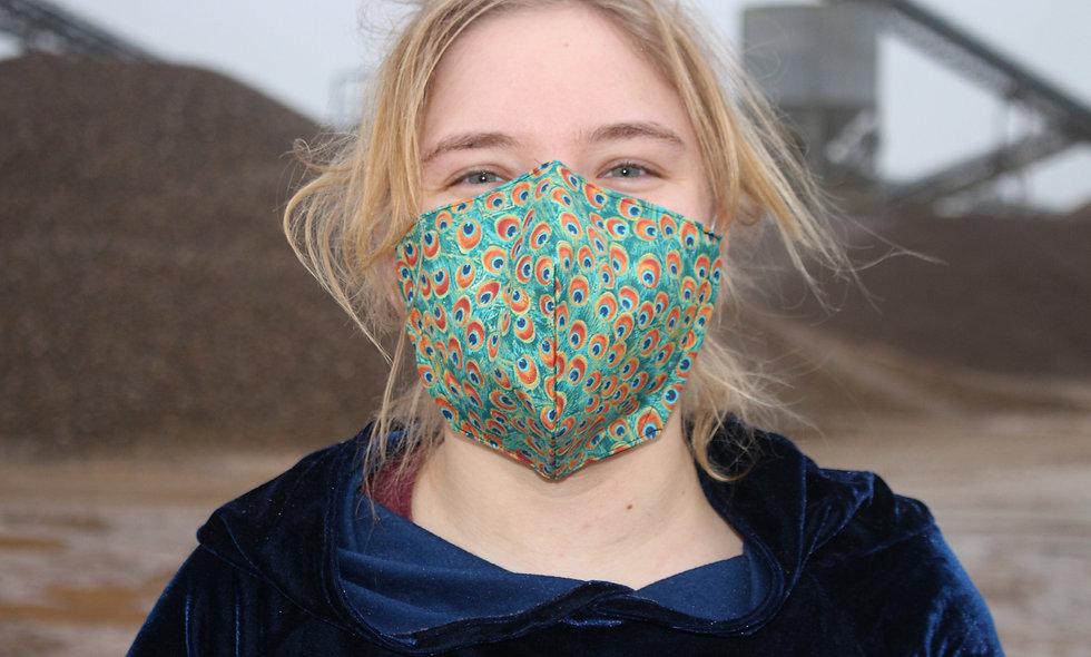 Pfau Baumwolle FFP2 & KN95 Masken Überzieher- hannisch