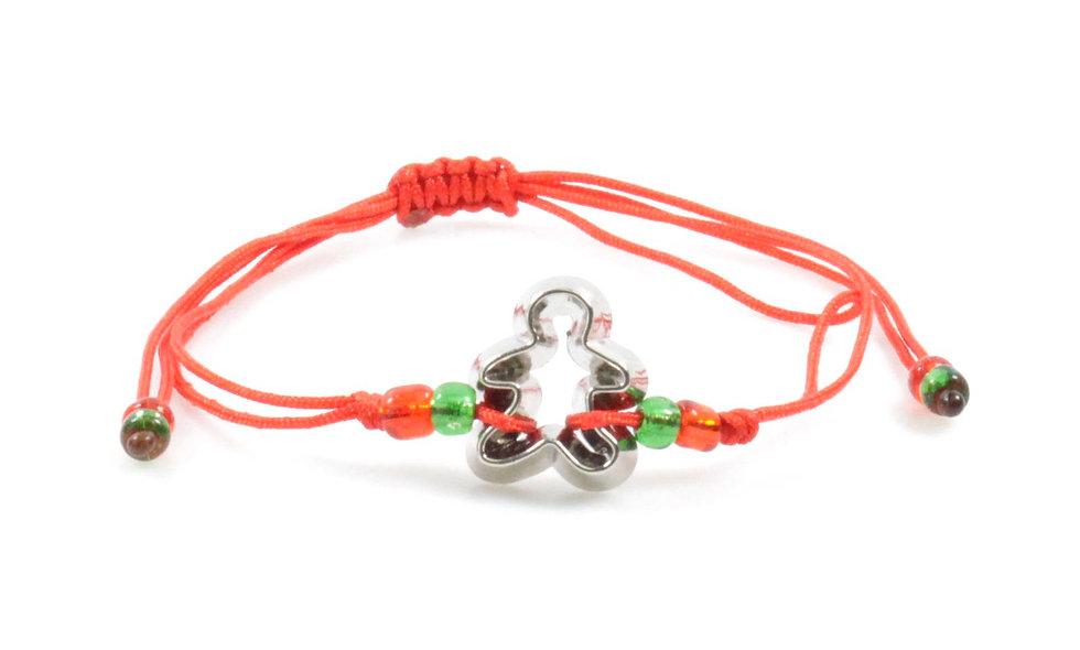Kordel Lebkuchen Mann Ausstecher Silber Armband/Fußkette