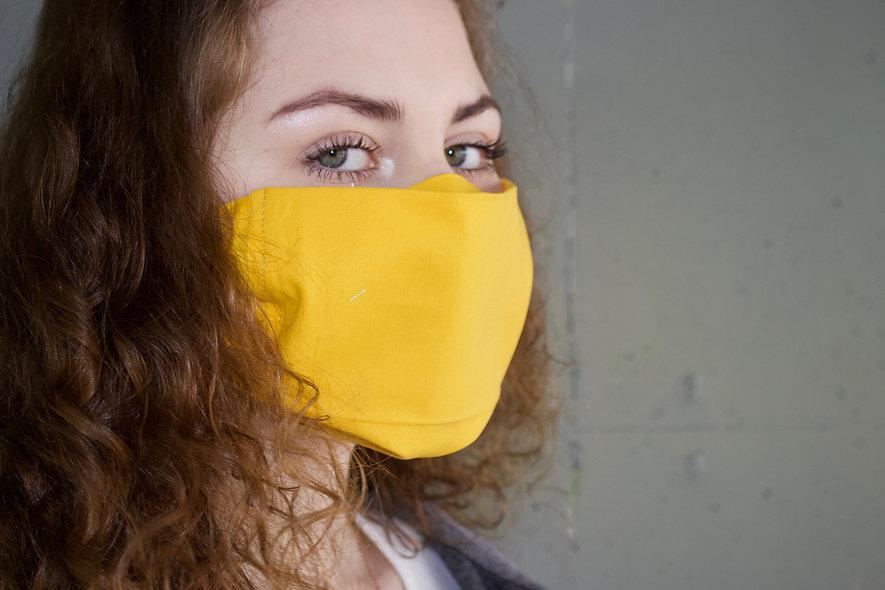 Gelb Baumwolle Flap Maske- hannisch