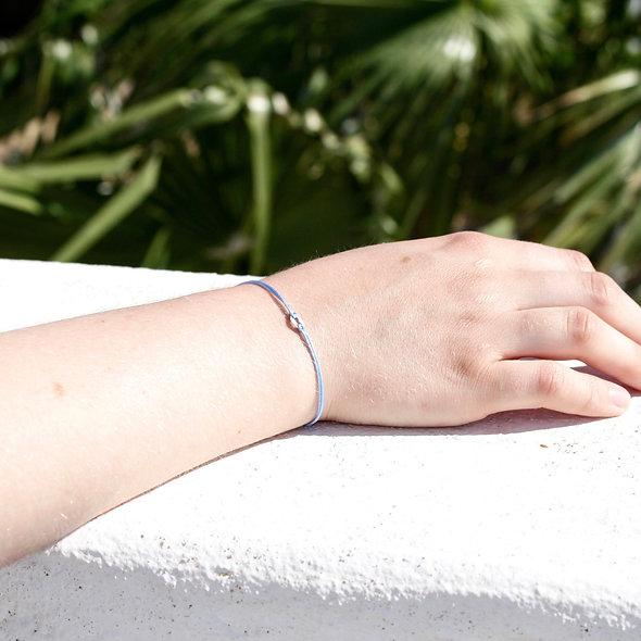 Kordel 925 Silber Plättchen Armband/Fußkette